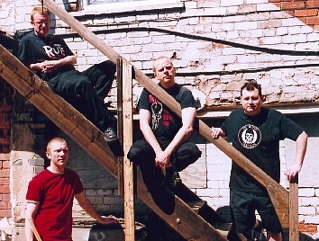 The original Pointy line-up, outside Unit 5 Studios, in Mansfield