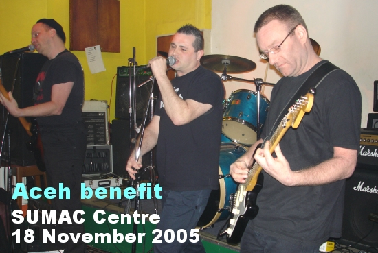 Pointy Boss play a benefit at the Sumac Centre, Nottingham for Aceh on 18 November 2005